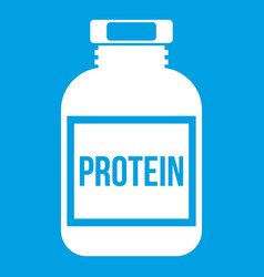 nutritional supplement for athletes icon white vector image
