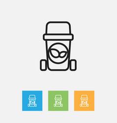 Of hygiene symbol on waste vector