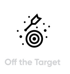 Off target icon editable line vector