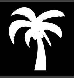 palm the white color icon vector image