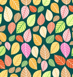 Pattern of multi-colored leaves vector