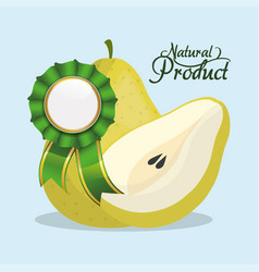 Pear natural product quality vector