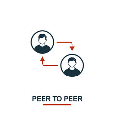 peer to peer icon creative two colors design from vector image