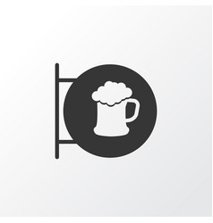 placard icon symbol premium quality isolated beer vector image