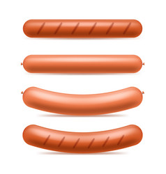 realistic 3d detailed sausages meat set vector image