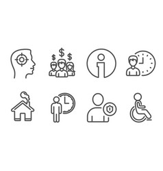 Recruitment security and salary employees icons vector