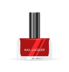 Red Nail Lacquer isolated on white background vector image