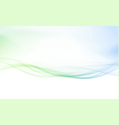 Refreshing spring speed swoosh lines border vector