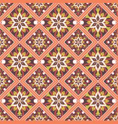 seamless hand drawn mandala pattern vector image