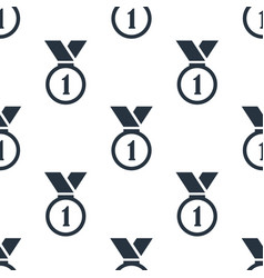 seamless medal pattern education symbol from icon vector image