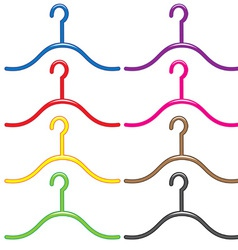 Set colourful hangers vector