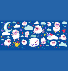 sleeping sheep set vector image