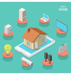 Smart house isometric flat concept vector