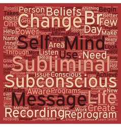 Subliminal Message Power text background wordcloud vector image