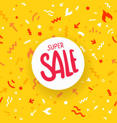 super sale vivid abstract seamless background vector image