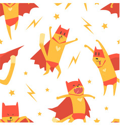 superhero dog seamless pattern cute design vector image