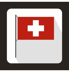 Switzerland flag icon in flat style vector image