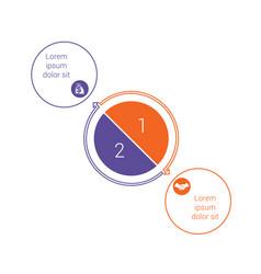 template for info grapchics diagram 2 cyclic vector image