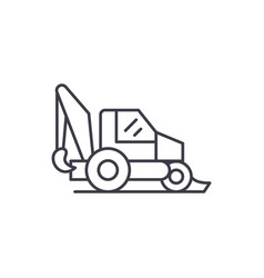 tractor line icon concept tractor linear vector image