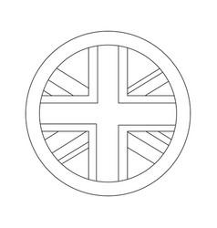 united kingdom flag badge round button vector image