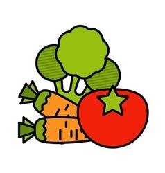 Vegetable icon set vector
