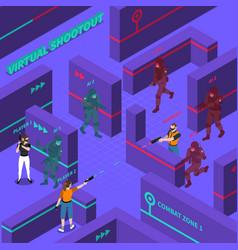 virtual gun battles isometric vector image