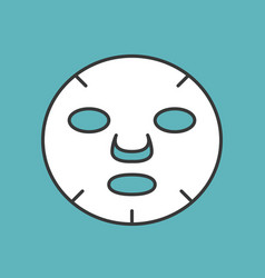 White beauty face mask filled outline icon vector