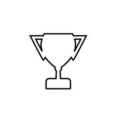 winner cup line icon black on white vector image