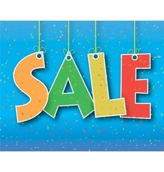 word sale hanging on a thread vector image