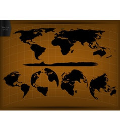 World Map Glone Infographic vector image