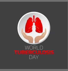 World tuberculosis day logo icon design vector
