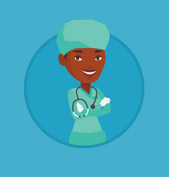 young confident surgeon with arms crossed vector image