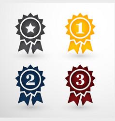 award badges set vector image