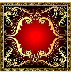 background with frame and royal golden vector image vector image