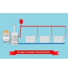 Energy-saving heating system vector image