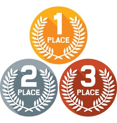 First Second and Third Place Badges vector image vector image