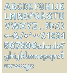 handdrawn typeface vector image vector image