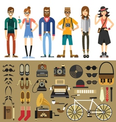 People characters vector image