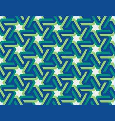 seamless geometric islamic ornament with stars vector image
