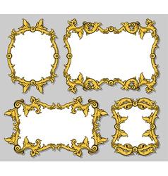 set of ornamental frames vector image vector image