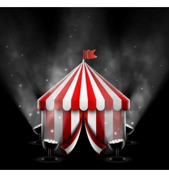 Circus tent with spotlights vector image