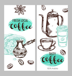 coffee packaging banner set vector image