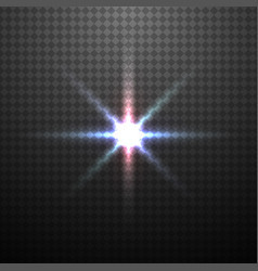 Color glowing light effect vector
