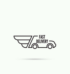 Logo car with wings vector image