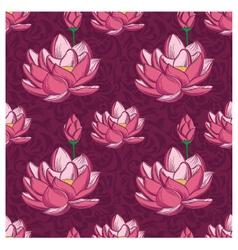 Lotus Ornamental Pattern vector image vector image