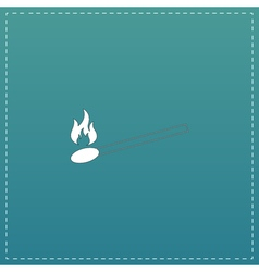 match flat icon vector image vector image