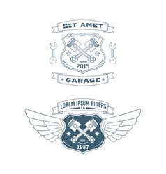 Set of Motor badges vector image