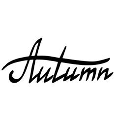 Word Autumn vector image vector image