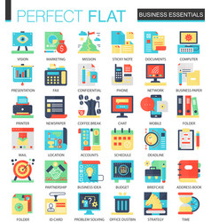 business essential complex flat icon vector image vector image