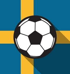 football icon with Sweden flag vector image vector image